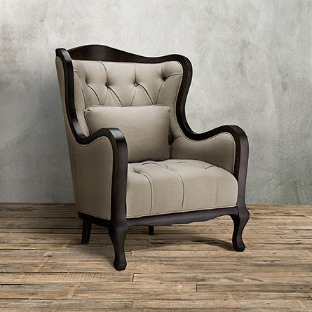 Team RoomBlair Tufted Upholstered Chair In Glinda Linen Arhaus - Arhaus club sofa