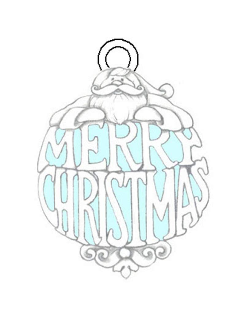 Julekugle til kort