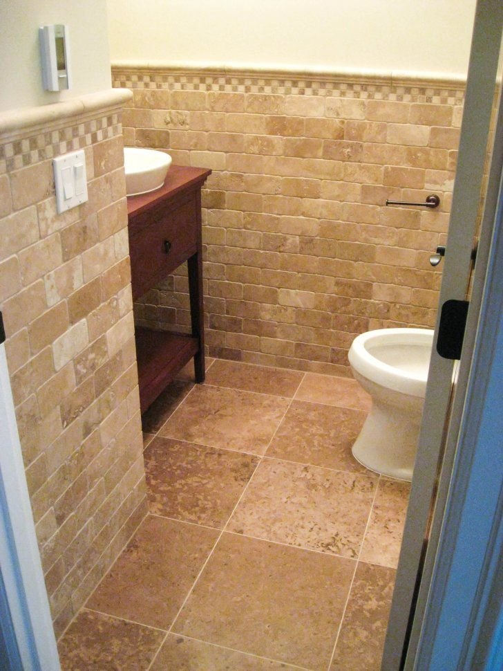 Bathroom cool bathroom floor tile ideas for small for Small bathroom natural