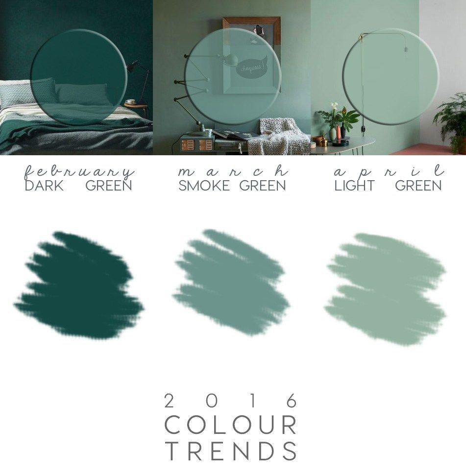 Friday Finds 2016 Interior Design Trends: Couleurs Maison, Vert Chambre