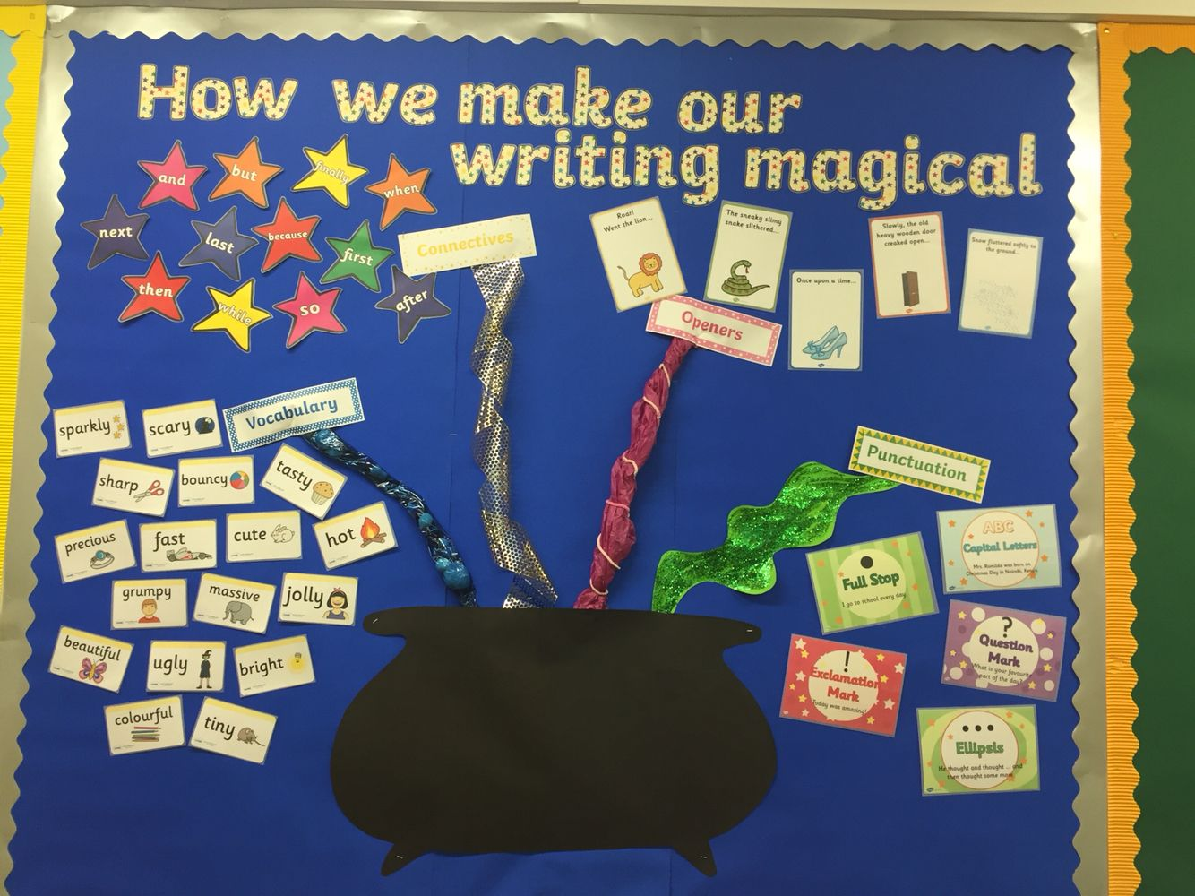 Magical writing vcop literacy display Literacy display