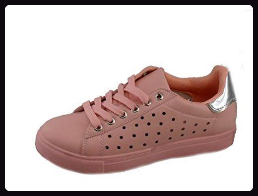 Rebelde , Damen Sneaker, rot - Rosa - Größe: EU 39 - Sneakers für frauen (*Partner-Link)