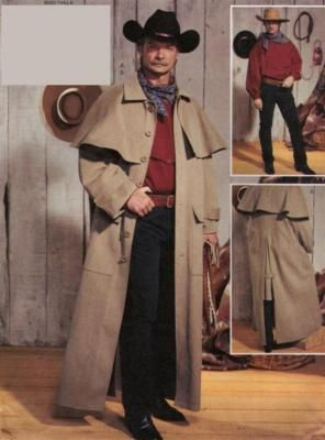 Western Trenchcoat Costume Sewing Patterns Mens Historical Costumes Shirt Sewing Pattern
