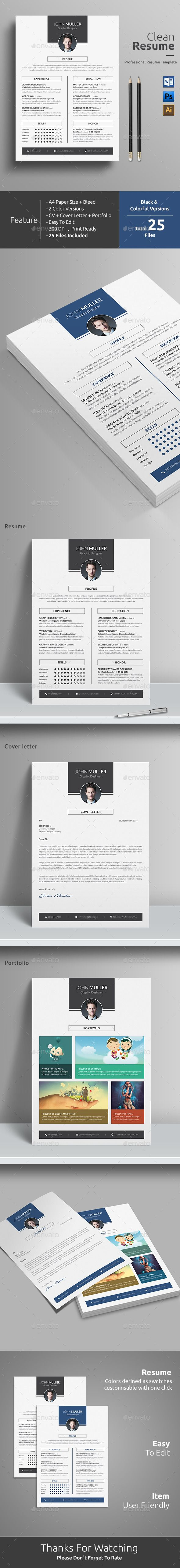 Resume  Cv Template Resume Cv And Adobe Illustrator
