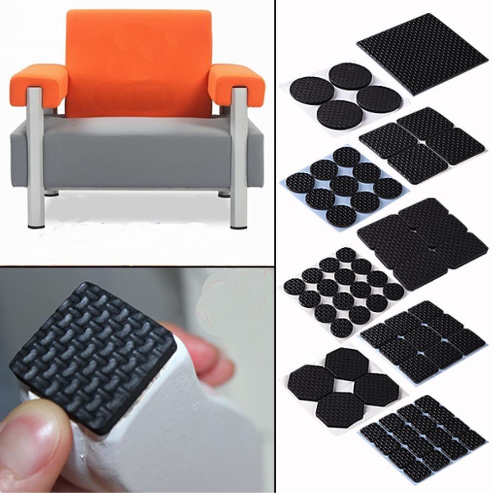 black rubber feet pad table chair feet