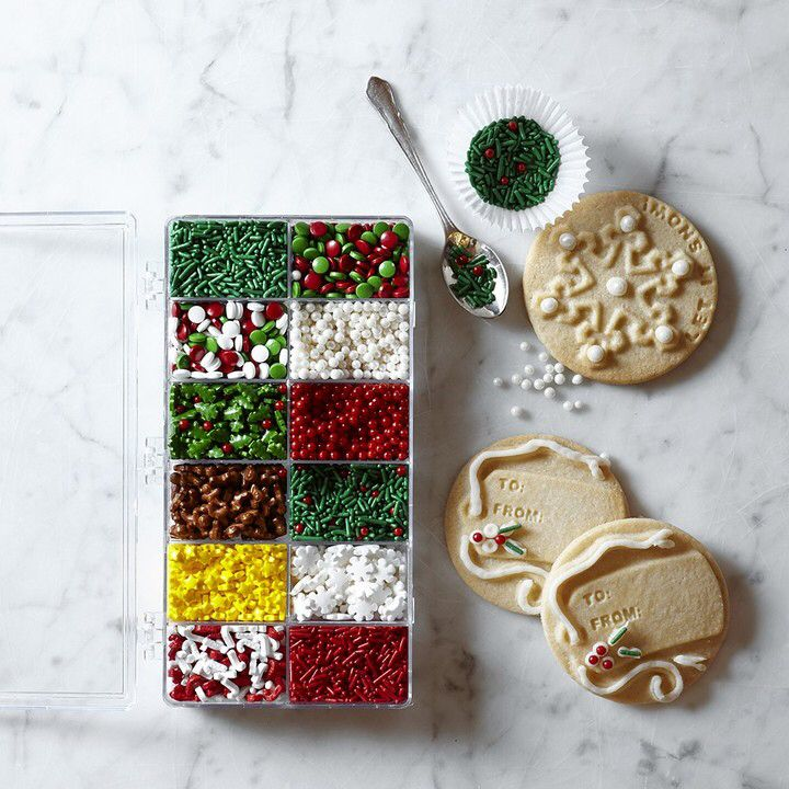 williams sonoma holiday cookie decorating kit what a cute idea i could make my own customized kit for my son and i to use while making christmas cookies