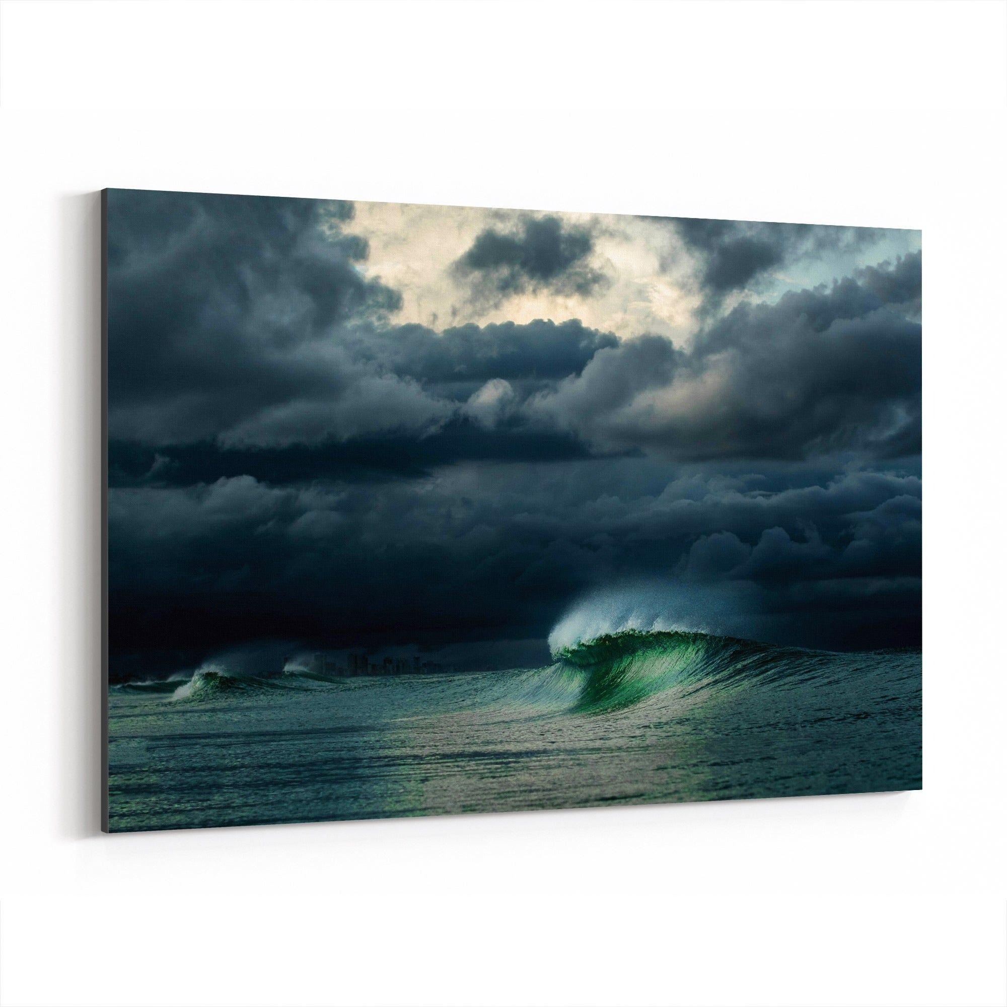 Noir Gallery Dramatic Storm Florida Daytona Beach Canvas Wall Art