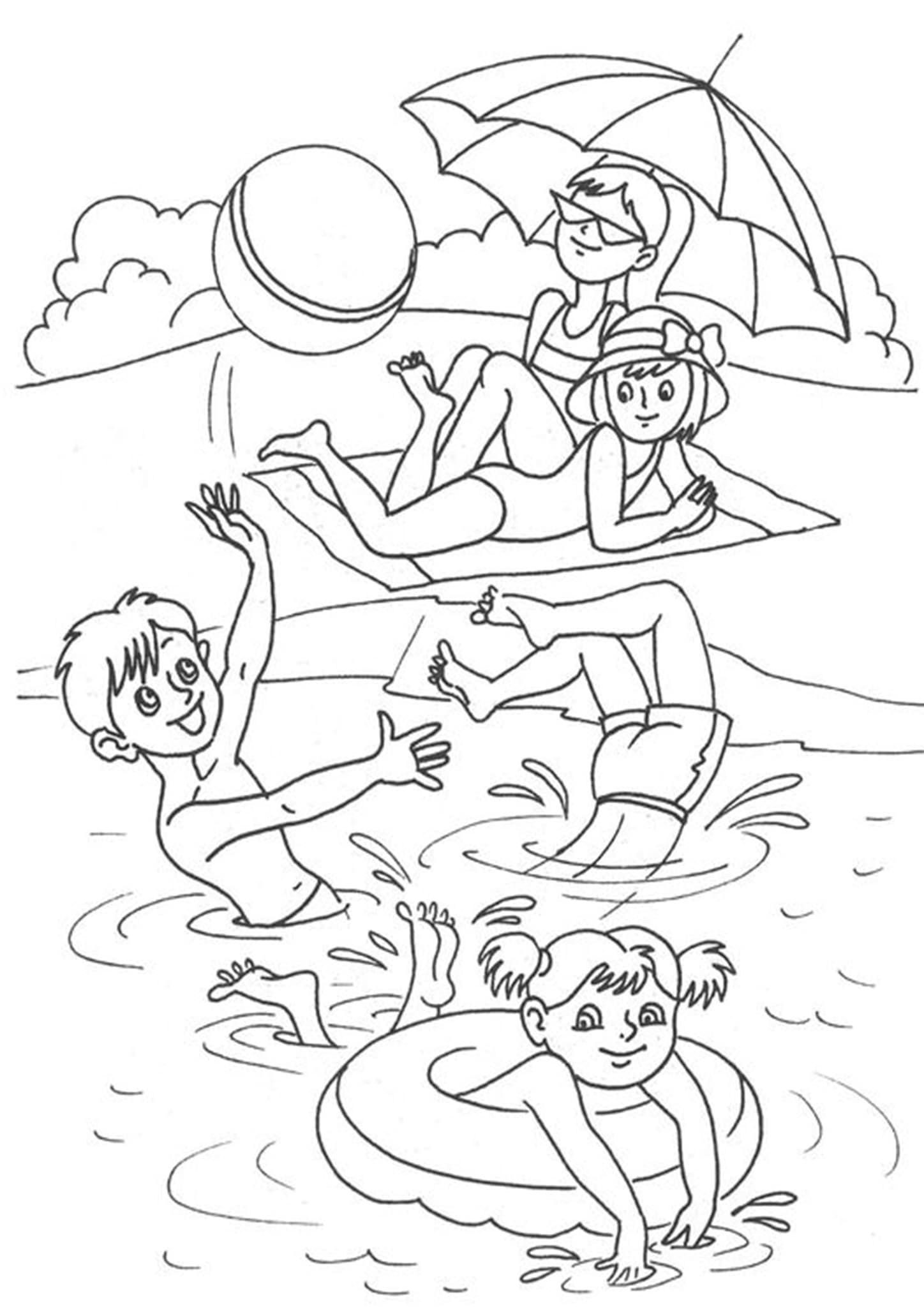 Free & Easy To Print Summer Coloring Pages in 2020