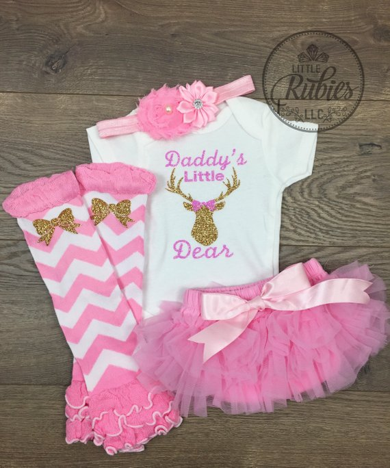 9578472ef Father's Day outfit for baby girl Daddy's little girl Daddy's little dear Baby  girl Father's Day out