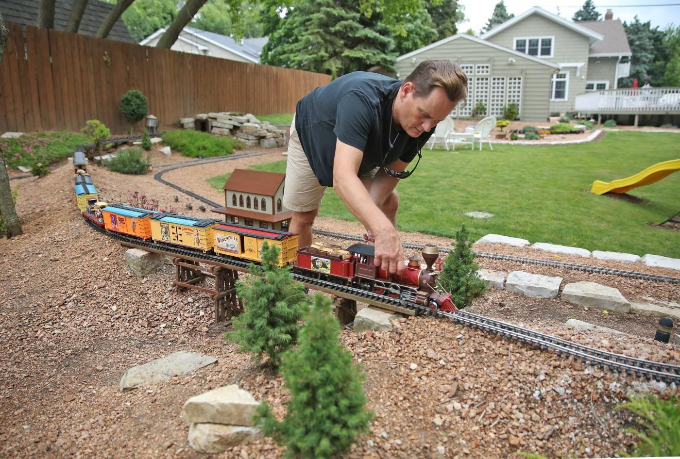 For Some Backyard Railroad Gardeners It S Full Steam Ahead Model Trains Garden Railroad Garden Trains Diy backyard train plans
