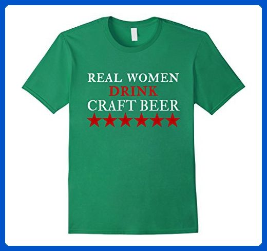 Mens Real Women Drink Craft Beer T Shirt Medium Kelly Green Food