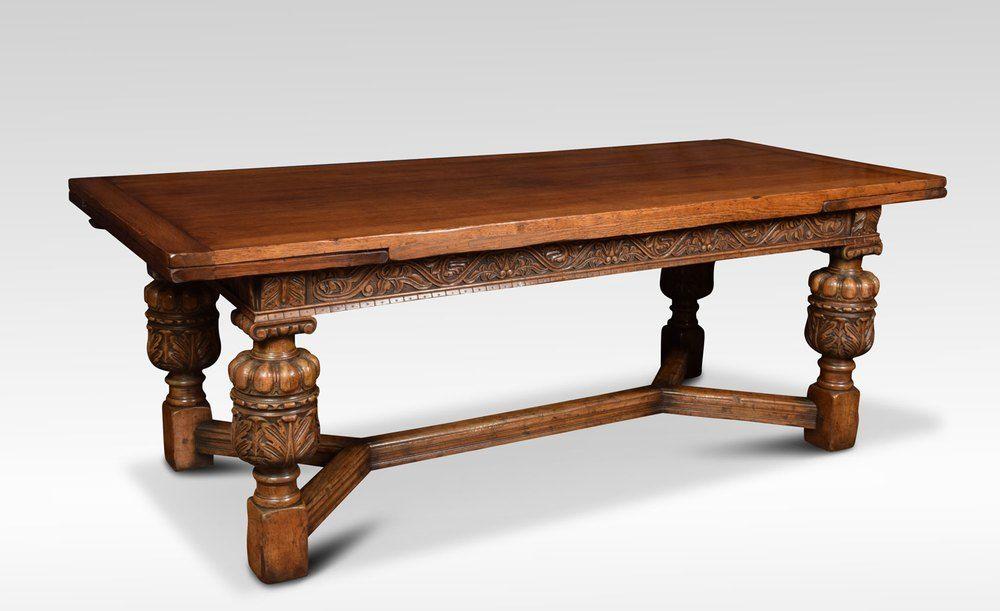 Impressive Oak Draw Leaf Table Antiques Atlas Draw Leaf Table
