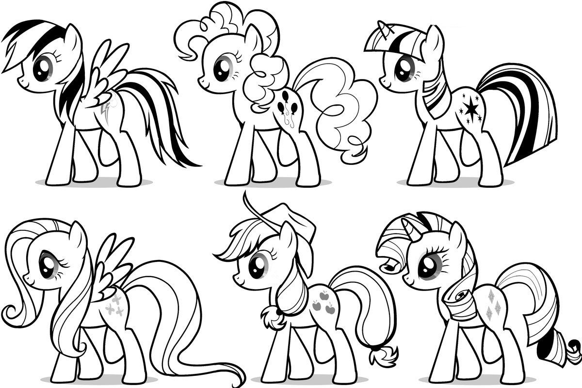 Mlp Coloring Sheets My Little Pony Rarity Pages Outline