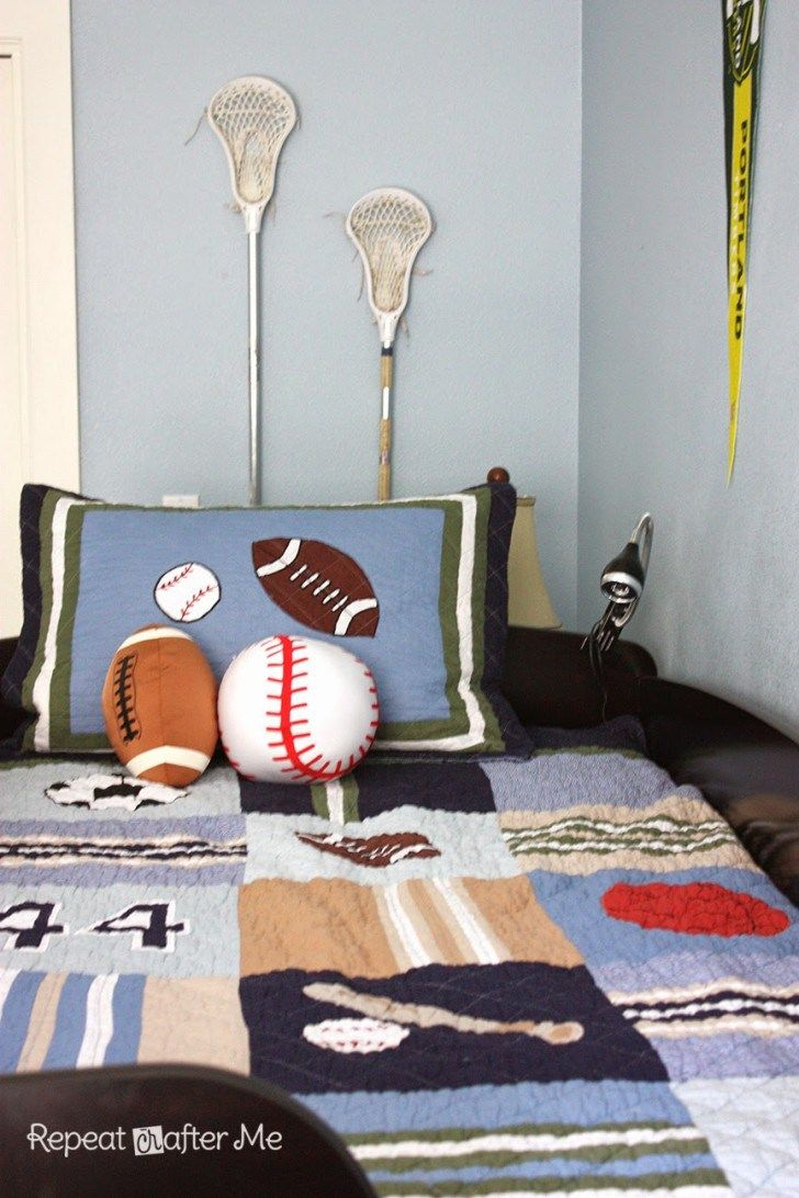 Boring to bold boys sports themed bedroom aiden pinterest