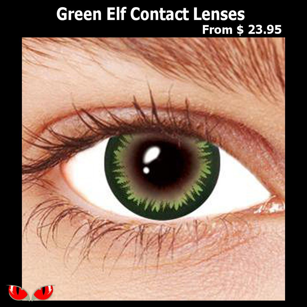 Stand Out With Our Amazing Green Elf Contact Lenses These Halloween Contact Lenses Have A Wonder In 2020 Contact Lenses Colored Green Contacts Lenses Colored Contacts