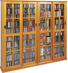 A Large DVD Storage Cabinet Can Hold A Massive Disc And Media Collection