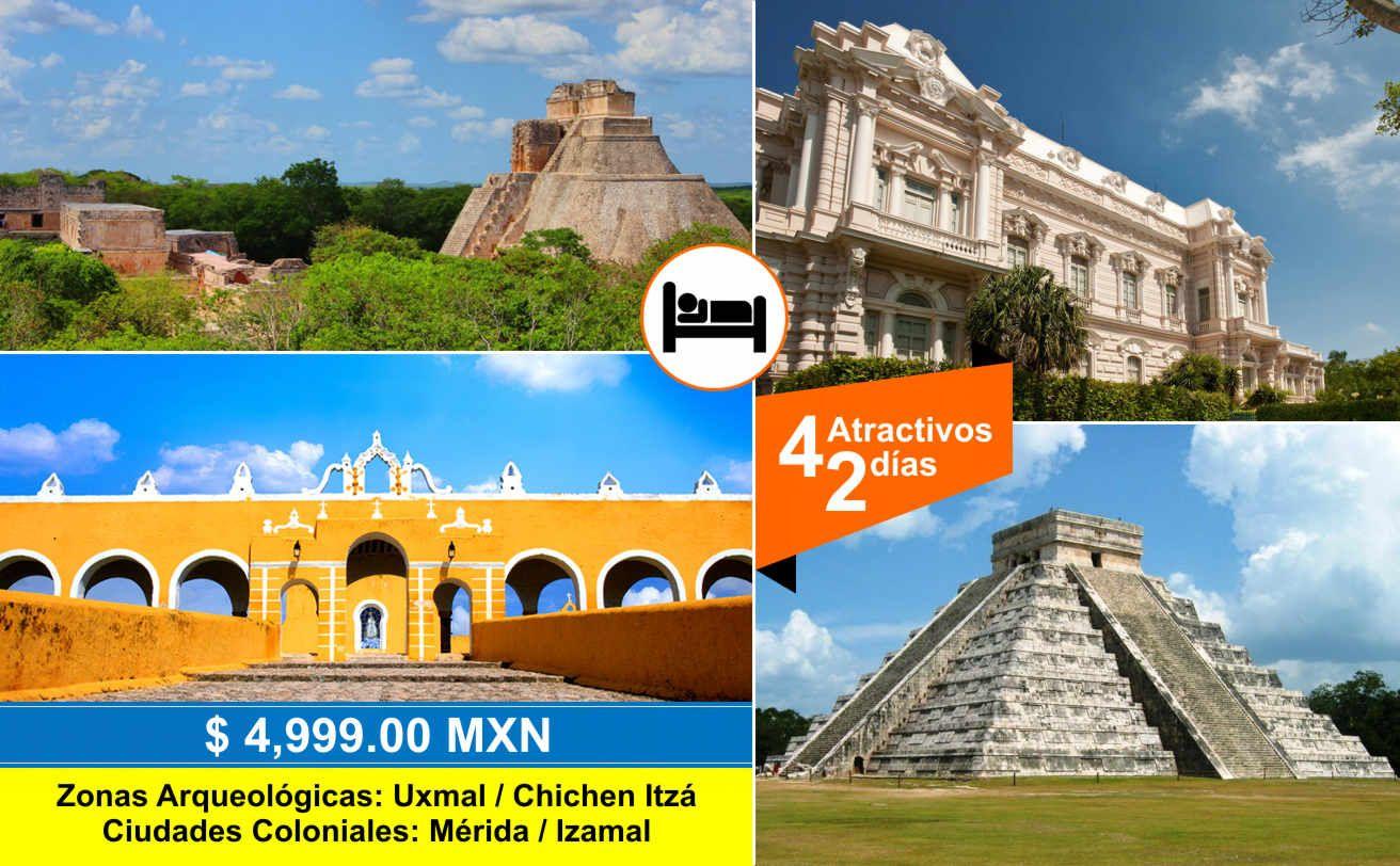 Uxmal Mérida Izamal Y Chichen Itzá 2 Dias Chichen Itza Uxmal Ciudad Maya