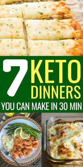 Easy Keto Dinner Recipes you can make in 30 Minutes or Less images