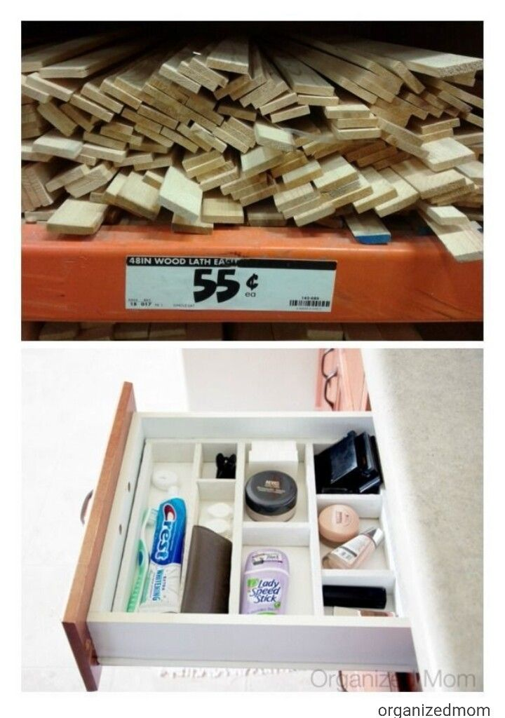 Bathroom drawer separators, great for essential items like makeup, toothpaste, etc.