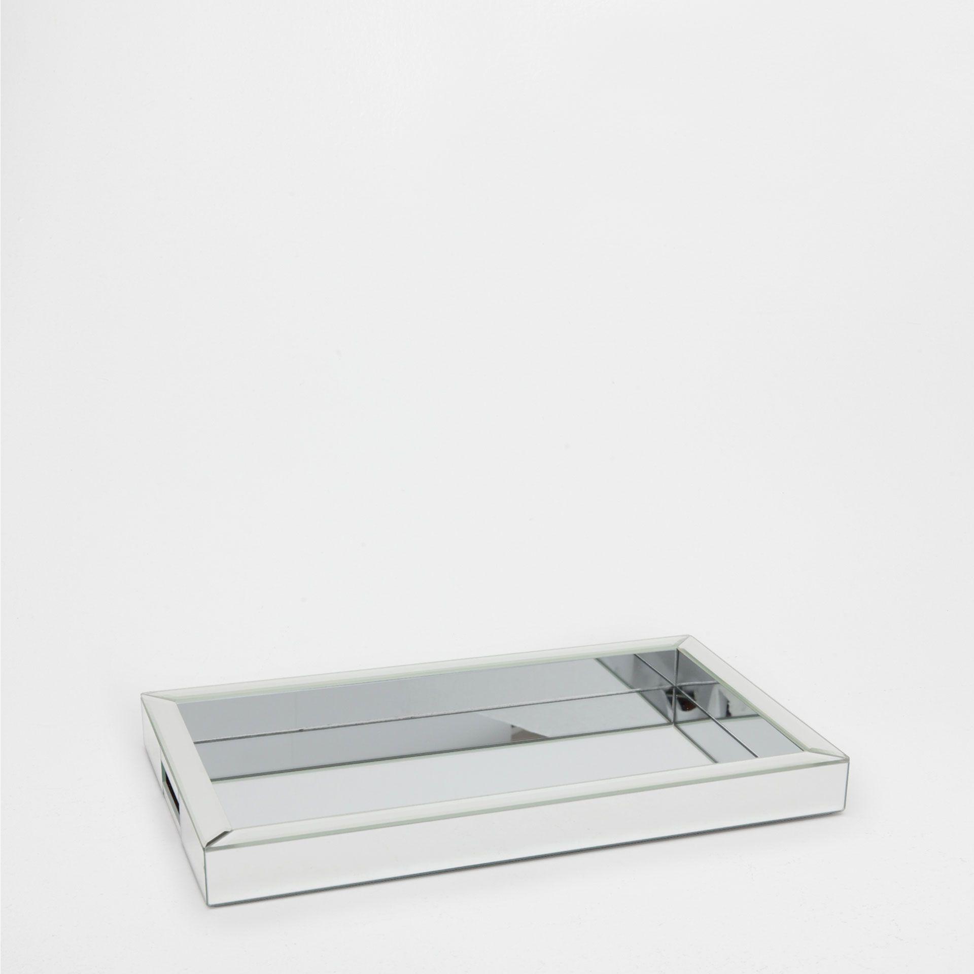 plateau miroir argent plateaux table zara home. Black Bedroom Furniture Sets. Home Design Ideas