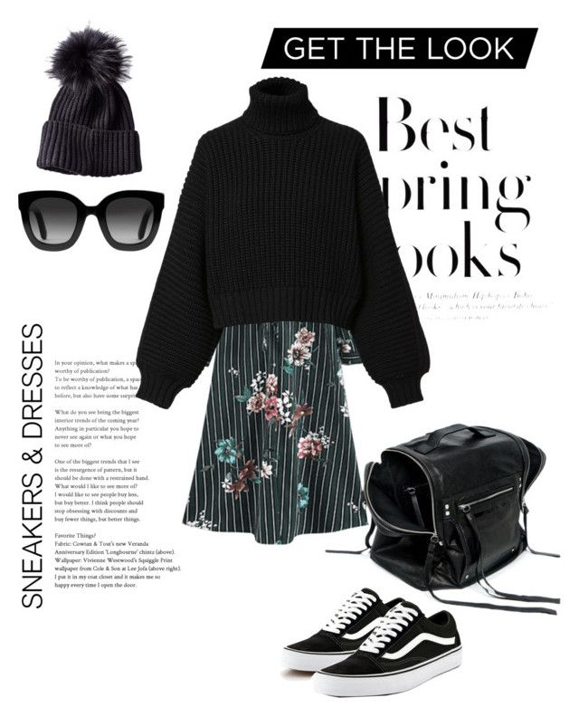 """Sneakers and dresses"" by frejaravn ❤ liked on Polyvore featuring H&M, Diesel, Vans, McQ by Alexander McQueen and Gucci"