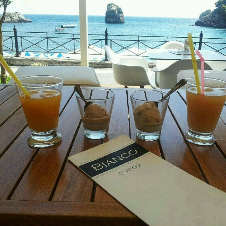 Drinks & Ice Cream For Two In Parga Greece