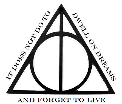 It Does Not Do To Dwell On Dreams And Forget To Live Deathly Hallows Symbol Harry Potter Tattoos Simple Tatto