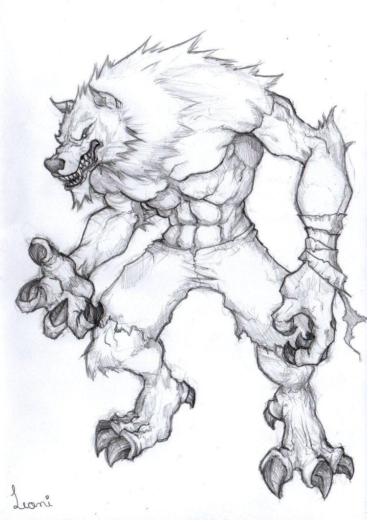 Werewolf Sketch By Leoniferraz Werewolf Drawing Werewolf Art