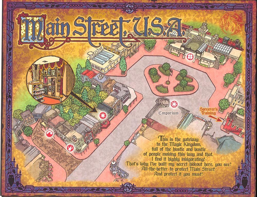Maps | Sorcerers of the Magic Kingdom | Pinterest | Magic kingdom ...