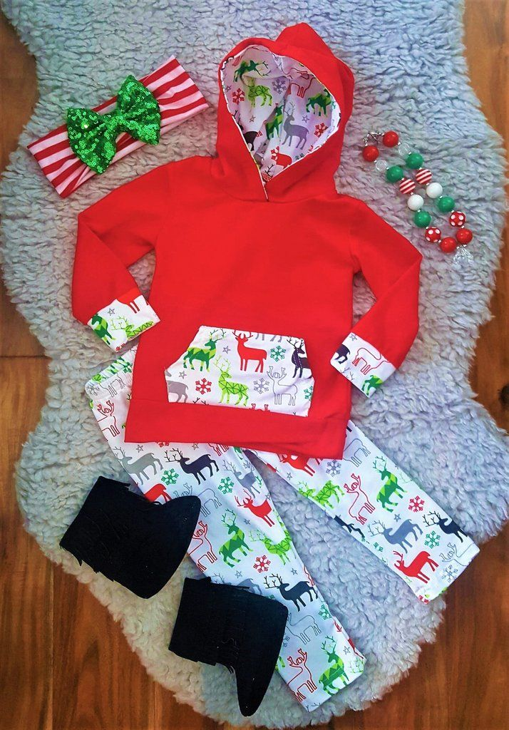 Magical Reindeer Hoodie Pant Set Boutique Outfits