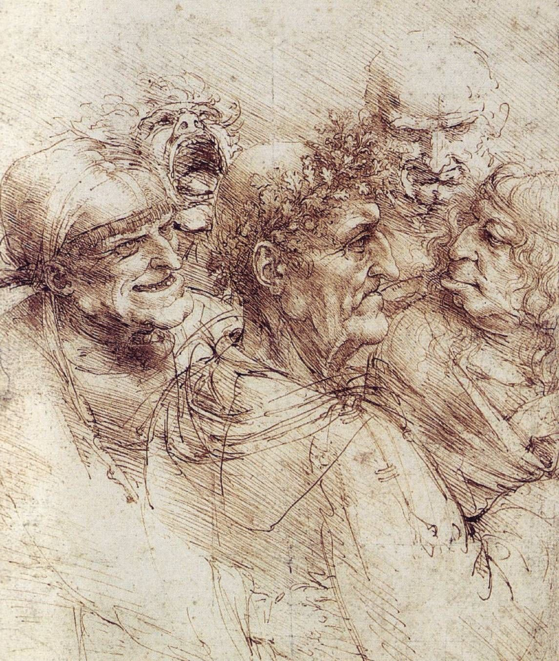 da vinci is one of my all time favorite artist because he was also leonardo da vinci one of the most impressive examples of intricate cross hatching is his old men sketch it is the clearest example in this list and