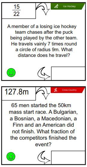 A fun Winter Olympics maths activity covering a variety of skills ...