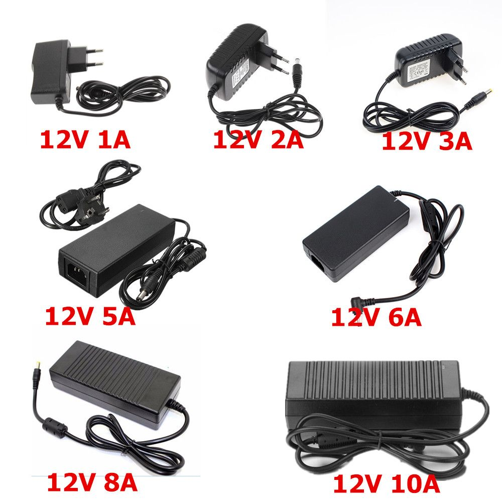 12v Power Supply Ac100 240v To 12v Led Driver 1a 2a 3a 5a 6a 8a 10a Low Voltage Transformer For Led Strip Hd Player Cctv Router Bande Led Routeur Led