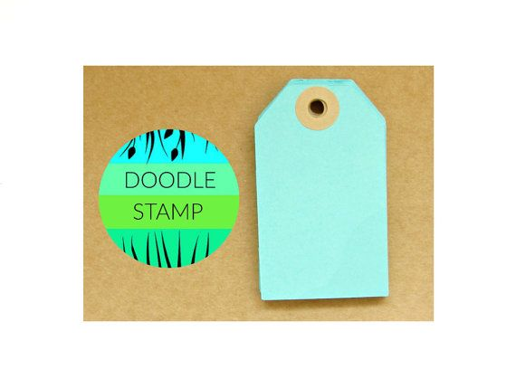RECTANGLE LUGGAGE TAGS  Pack of 14 Aqua 140 gsm by DoodleStamp
