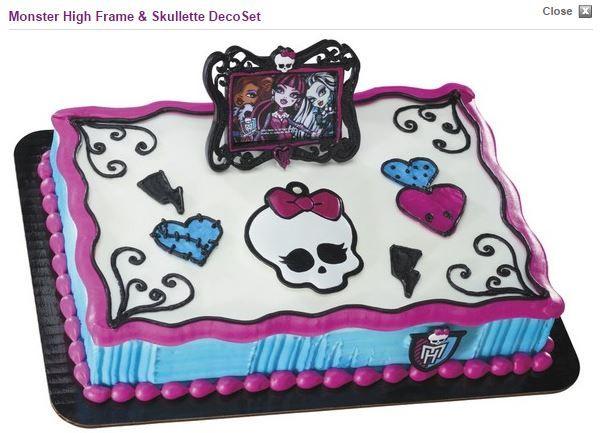Strange Monster High Monster High Cakes Monster High Cake Monster High Funny Birthday Cards Online Bapapcheapnameinfo