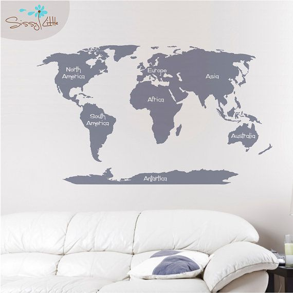 World map wall decal by sissylittle on etsy 6499 houses world map wall decal by sissylittle on etsy 6499 gumiabroncs Image collections