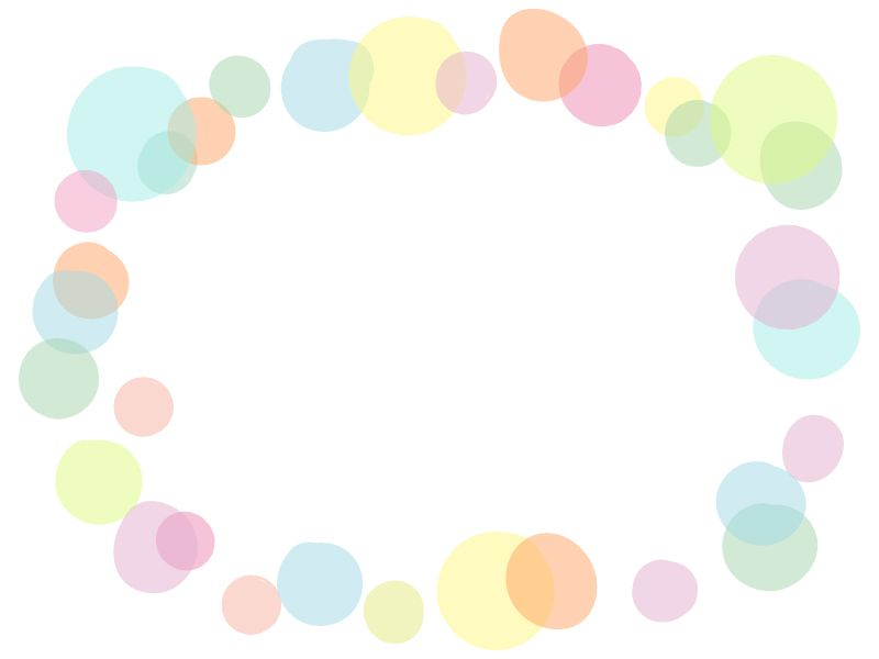 ふんわり水玉模様のフレーム飾り枠イラスト 桜 イラスト デザイン 無料 イラスト かわいい 飾り枠