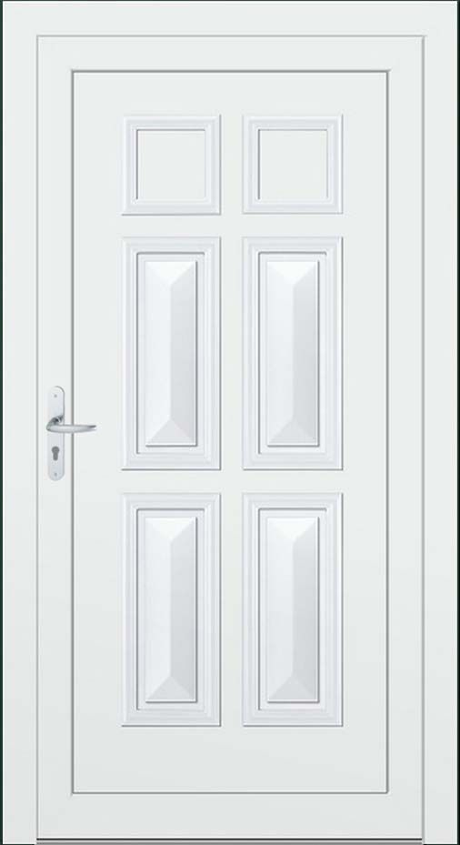 Porte d\u0027entrée LONDON Portes d\u0027entrée PVC Modèles classiques sans