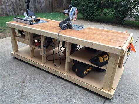 Zelf een werkbank maken van hout - Garage werkbank ...