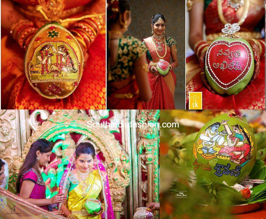 Coconut decoration for weddings coconut decoration and gems coconut decoration for weddings south india fashion junglespirit Gallery