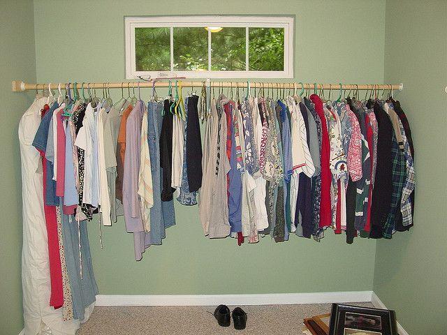 Temporary Closet Solution