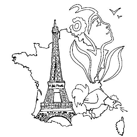 Dessin france a colorier projet classe paris pinterest - Dessin tour eiffel a imprimer ...