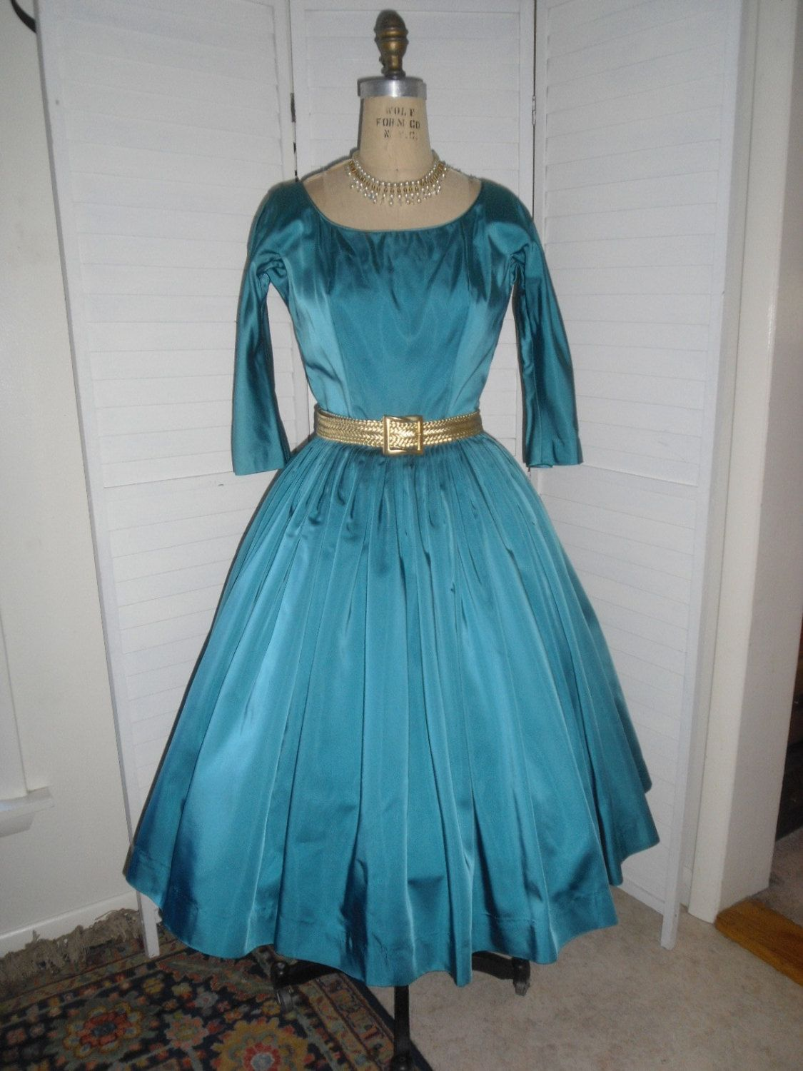 Vintage GiGi Young Dress 1950s New Look Teal by badgirlvintage | My ...