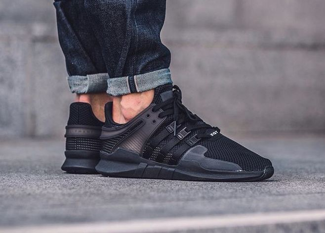 best loved 0cfab f2a7c acheter chaussure Adidas EQT Support ADV 91-16 Triple Black