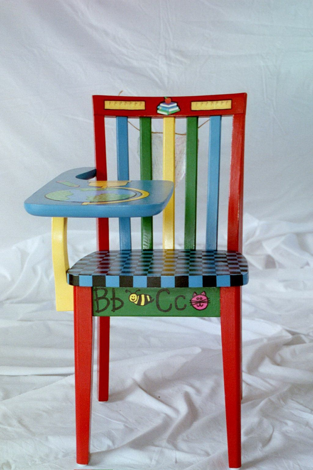 funky wooden chairs sheet metal chair image detail for kid furniture hand painted
