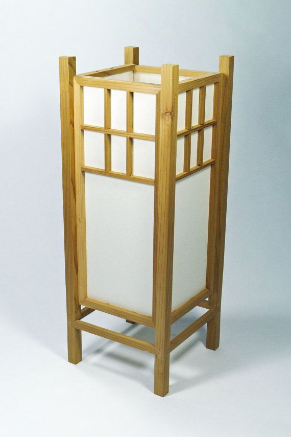 Japanese Lamp Handmade Unique Shoji Lamp Handmade Decor Japanese Style Side  Bed Table Lamp Home Woodworking | Woodworking Ideas | Pinterest | Japanese  Lamps ...