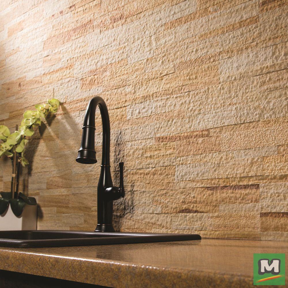 Complement your kitchen with Aspect™ Stone Tile Backsplash