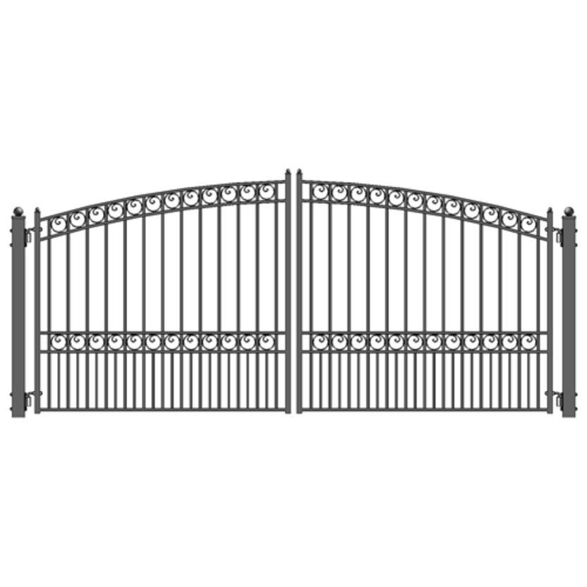 ALEKO ALEKO Paris Style Swing Dual Steel Driveway Gates 14ft X 6-1/4ft #connecticutstone www.connecticutstone.com