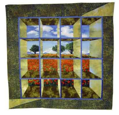 This Small Quilt Is A Variation Of The Traditional Attic Windows Pattern
