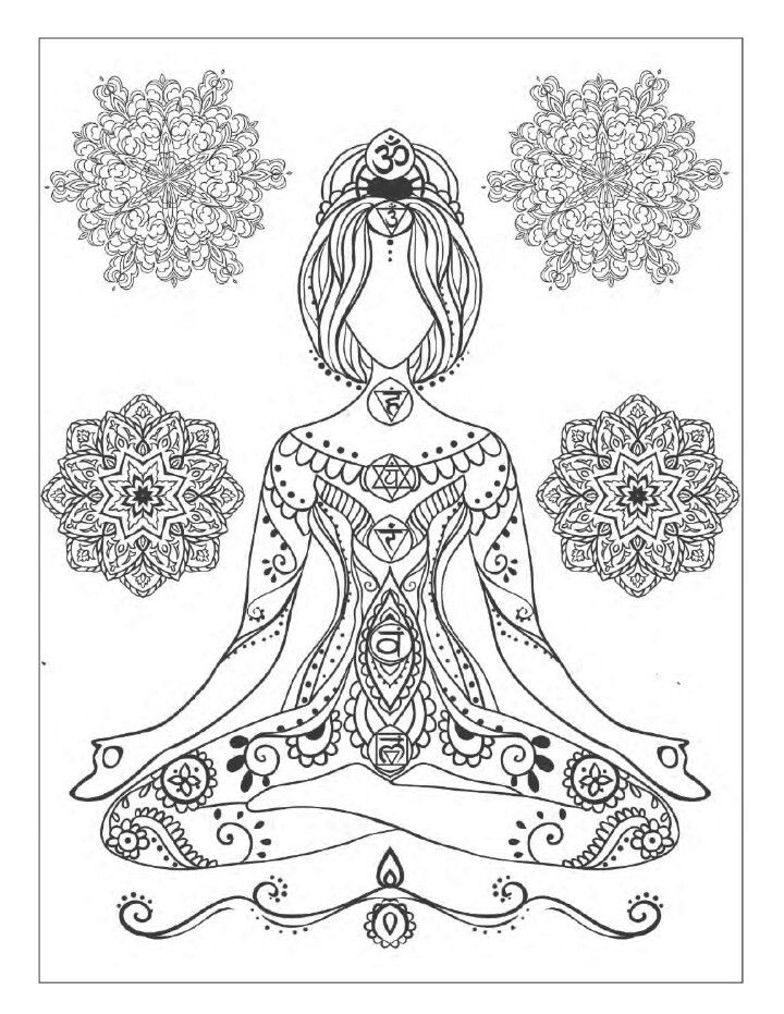 Pin by wesley van der walt on coloring pinterest yoga coloring books and mandala